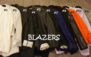 Blazers numbered